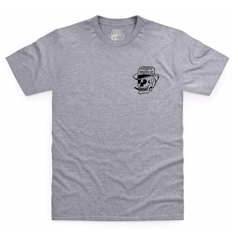 RK Skull Logo Back T-Shirt - Grey Marle