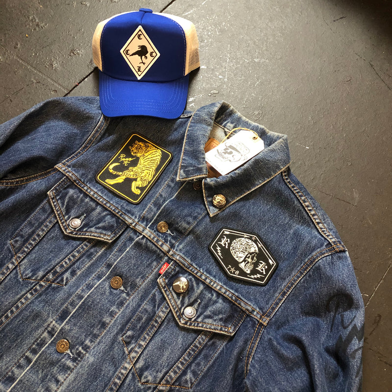 RK Tiger x Biker Skull Reworked Levi's Denim Jacket
