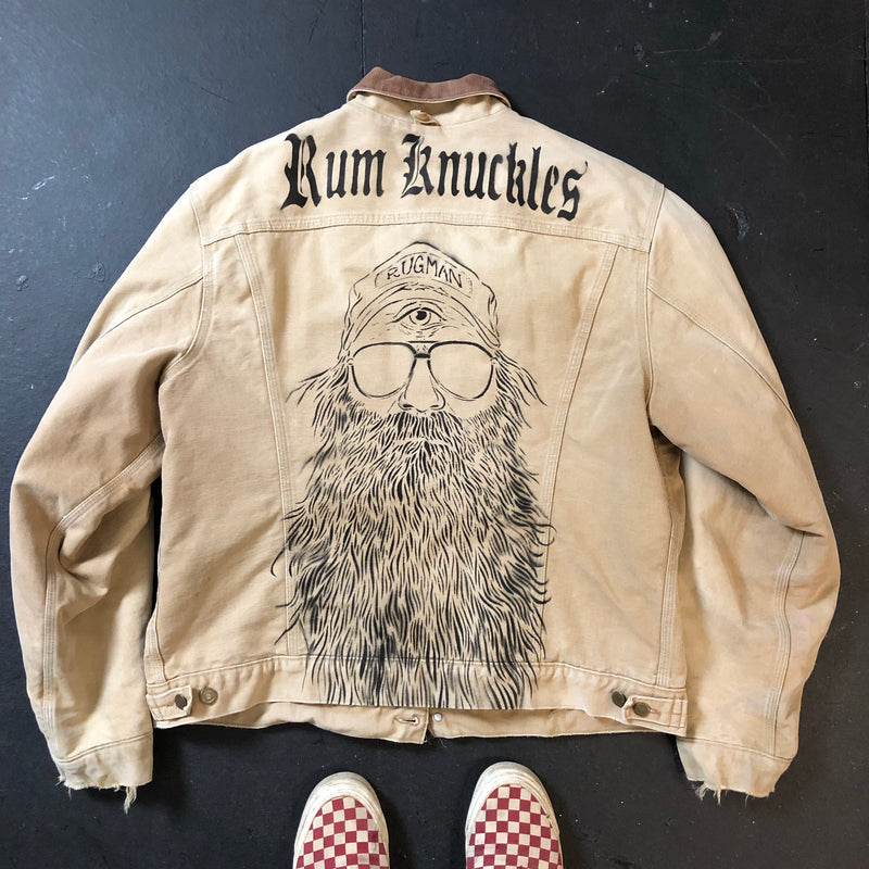 RK Reworked Vintage Carhartt Workwear Jacket - Beardy Man, RK Skull