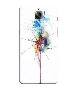 One Plus 3 Directions Watercolor Mobile Cover