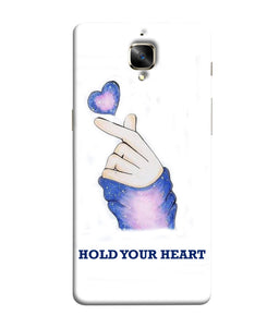 One Plus 3 Hold Your Heart Mobile Cover