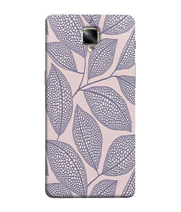 One Plus 3 Leaf Print Mobile Cover