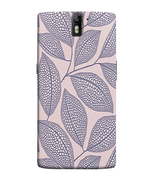One Plus 1 Leaf Print Mobile Cover