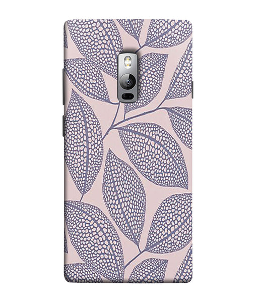 One Plus 2 Leaf Print Mobile Cover