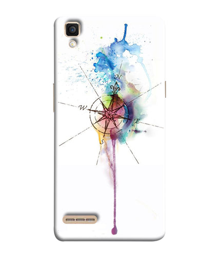 Oppo F1 Directions Watercolor Mobile Cover