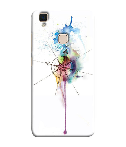 Vivo V3 Watercolor Directions Mobile Cover