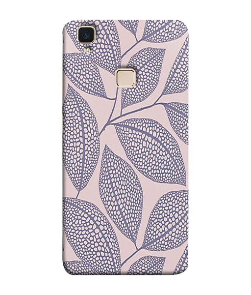 Vivo V3 Leaf Print Mobile Cover