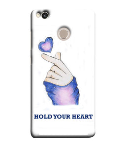 Xiaomi Redmi 4 Hold Your Heart mobile cover