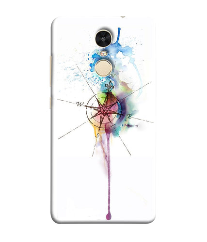 Xiaomi Redmi Note 5 Watercolor Directions mobile cover