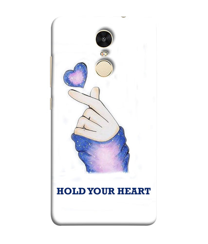 Xiaomi Redmi Note 5 Hold Your Heart mobile cover