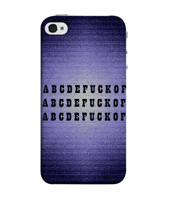 Apple Iphone 5s ABCDE Mobile cover
