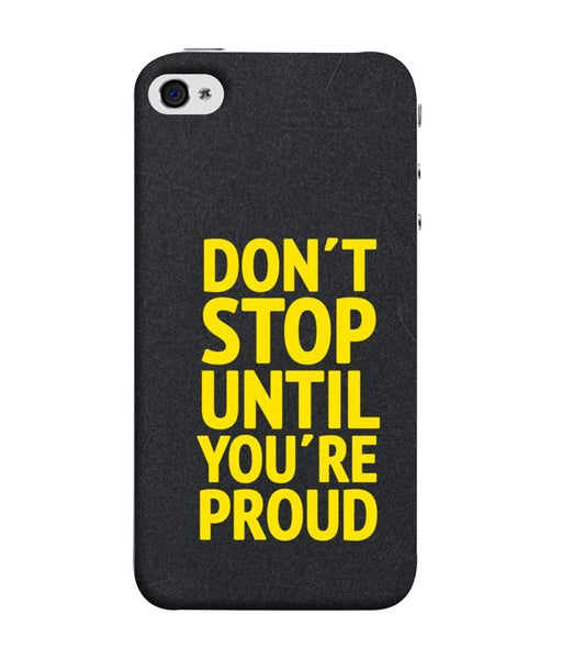 Apple Iphone 5s Dont Stop Mobile cover