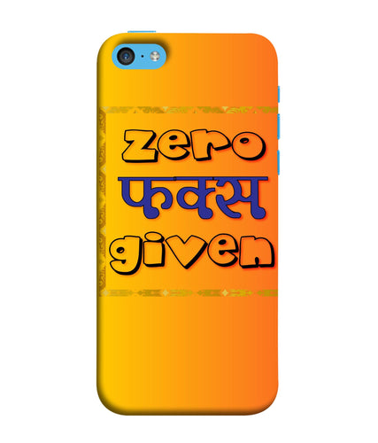 Apple Iphone 5c Zero Fs Given mobile cover