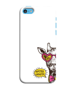 Apple Iphone 5c Hipster Giraffe mobile cover