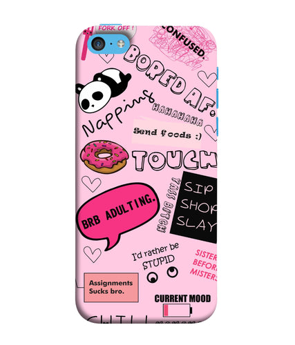 Apple Iphone 5c Doodles mobile cover