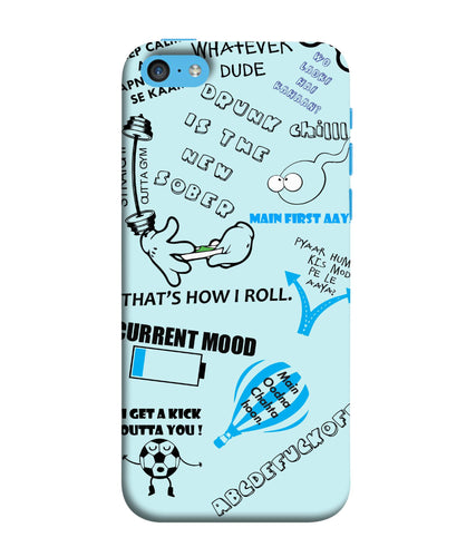 Apple Iphone 5c Doodle mobile cover