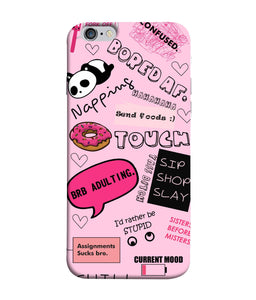 Apple Iphone 6 Plus Doodles Mobile cover