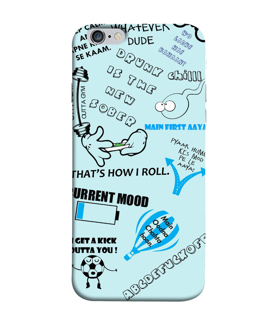 Apple Iphone 6 Plus Doodle Mobile cover