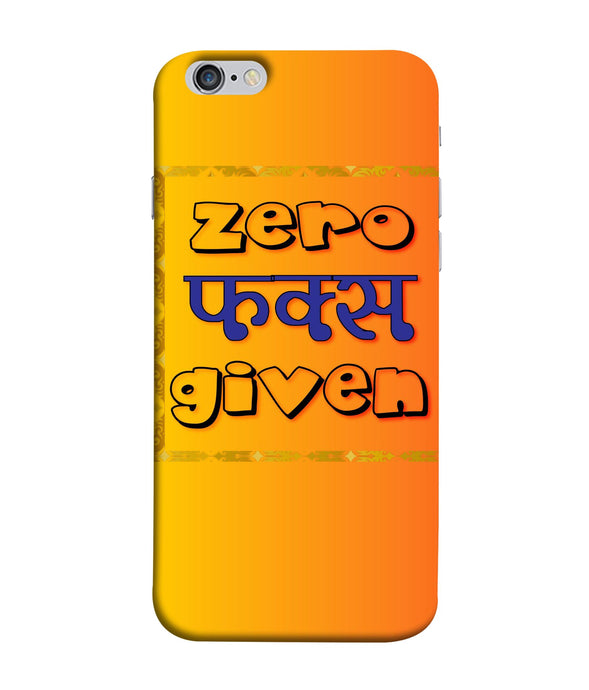 Apple Iphone 6 Zero Fs Given mobile cover