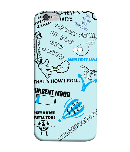Apple Iphone 6 Doodle mobile cover