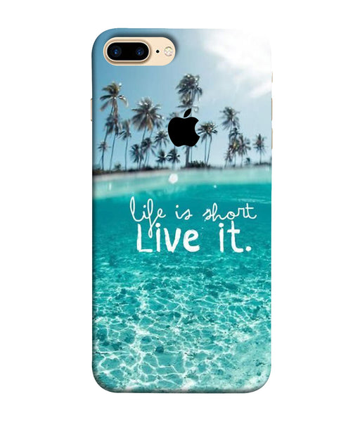 Apple Iphone 8 Plus Live Life mobile cover
