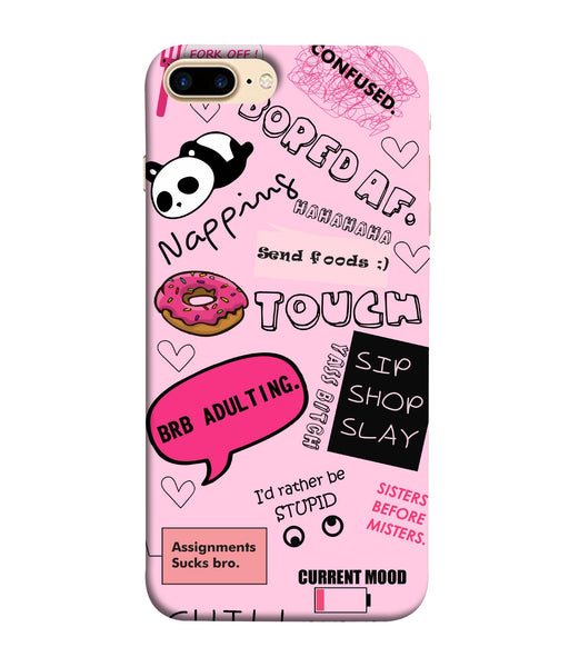 Apple Iphone 8 Plus Doodles mobile cover