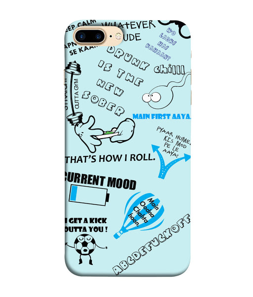 Apple Iphone 8 Plus Doodle mobile cover