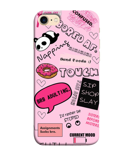 Apple Iphone 8 Doodles Mobile cover