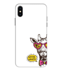Apple Iphone Xs Max Hipster Giraffe Mobile cover