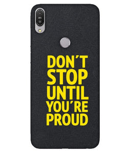 Zenfone Max Pro M1 Don't Stop Cover