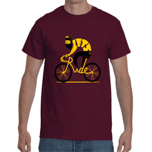 Load image into Gallery viewer, Cycle Maroon T- Shirt