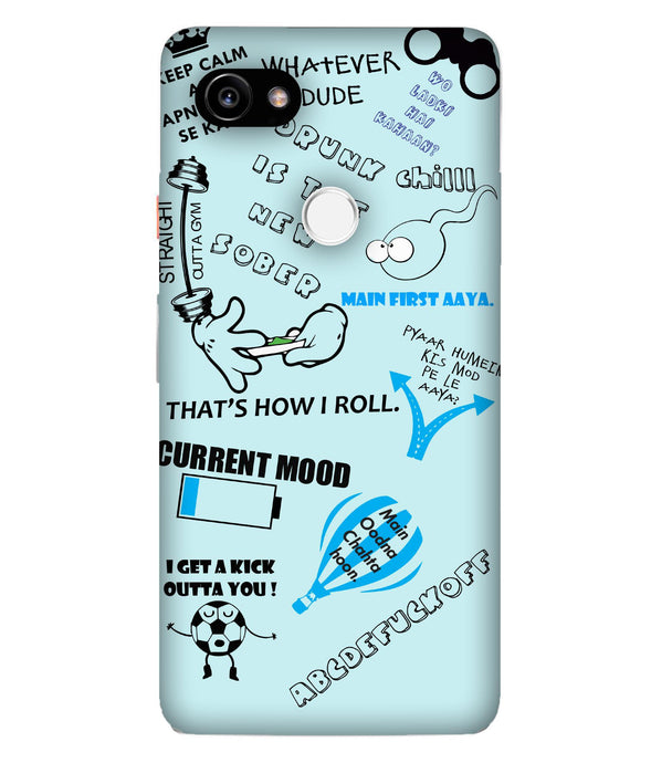 Google Pixel 2XL Doodles Mobile cover