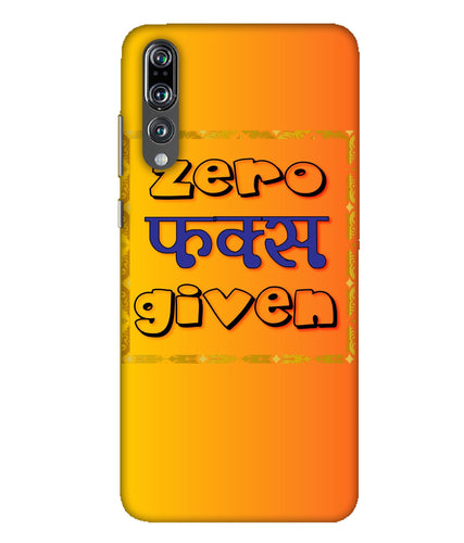 Huawei P20 Pro Zero Fs Given mobile cover