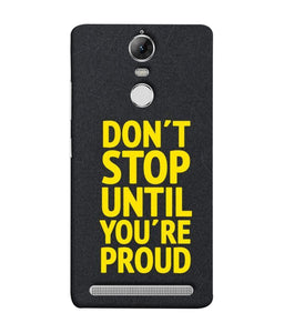 Lenovo K5 Note Don't Stop Mobile Cover