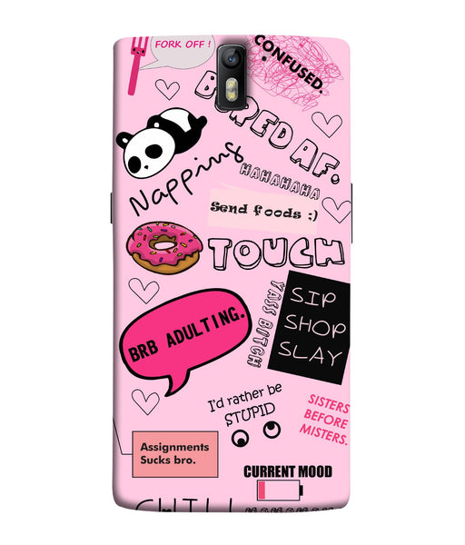 One Plus 1 Doodles Mobile Cover