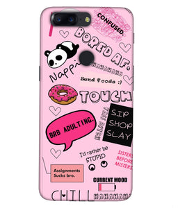 One plus 5T Doodles Mobile Cover