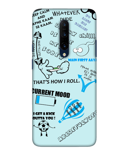 One Plus 7 Pro Doodle Mobile Cover