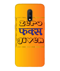 One Plus 7 Zero F's Given Mobile Cover