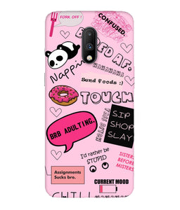 One Plus 7 Doodles Mobile Cover