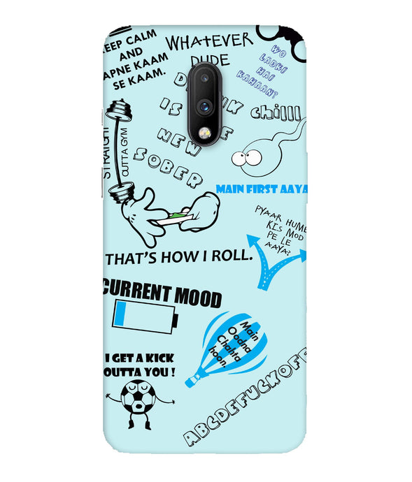 One Plus 7 Doodle Mobile Cover