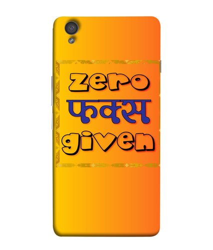 One Plus X Zero F's Given Mobile Cover