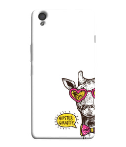 One Plus X Hipster Giraffe Mobile Cover