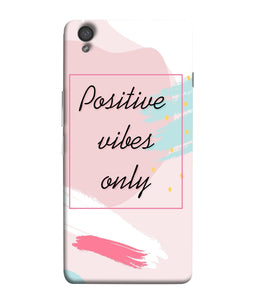 One Plus X Positive Vibes Only Mobile Cover