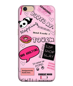 Oppo A83 Doodles Mobile Cover