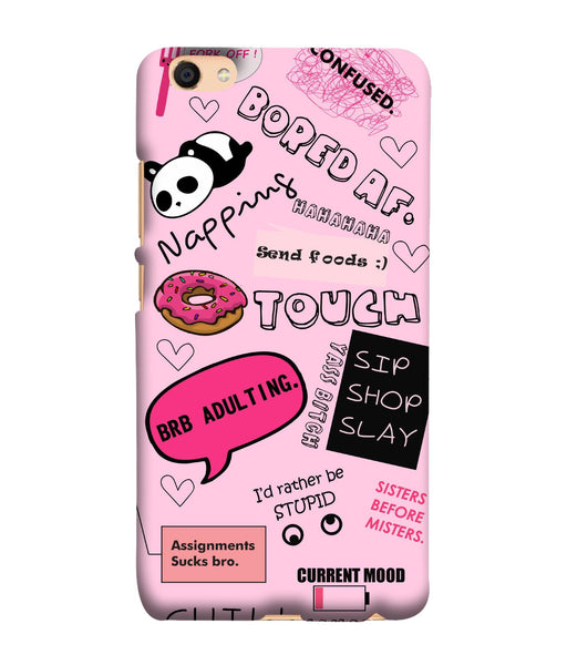 Oppo F3 Doodles Mobile Cover
