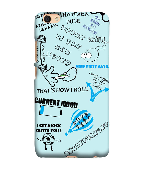 Oppo F3 Doodle Mobile Cover