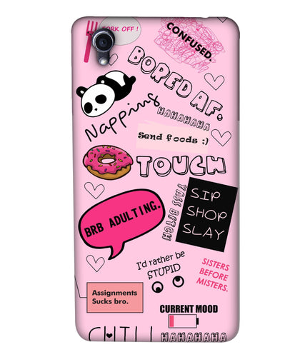 Oppo F1 Doodles Mobile Cover
