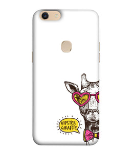 Oppo F5 Plus Hipster Giraffe Mobile Cover