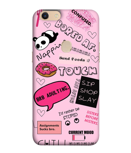 Oppo F5 Plus Doodles Mobile Cover