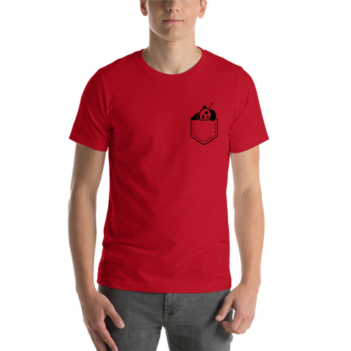 Red Pocket Panda Casual T shirt